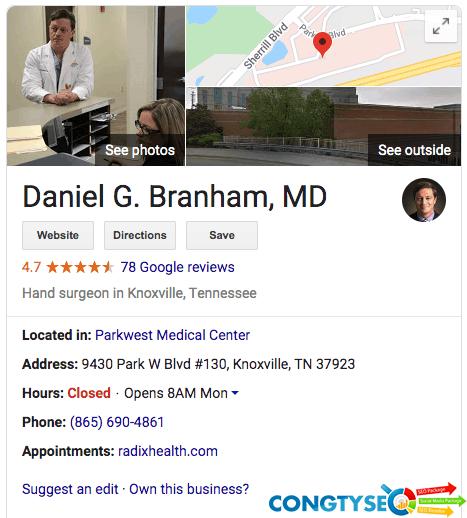 seo cho bác sĩ google doanh nghiệp của tôi