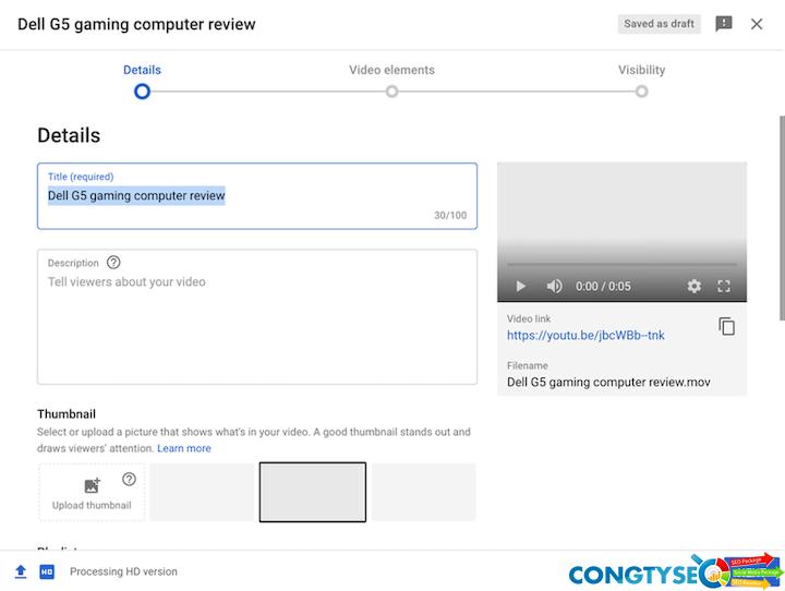 mẹo seo youtube — tab mô tả